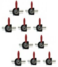 "(10) STRAIGHT FUEL GAS SHUTOFF CUTOFF VALVE SWITCH TAP 1/4"" Steel Fitting"