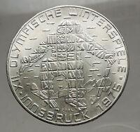 1976 Innsbruck WINTER Olympic Games AUSTRIA - SILVER 100 Schilling Coin  i57146