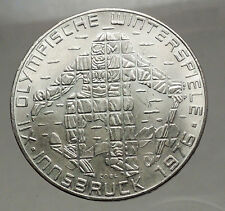 1976 Innsbruck WINTER Olympic Games AUSTRIA - SILVER 100 Schilling Coin  i57146