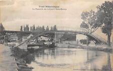 CPA 54 TOUL LA PASSERELLE SUR LE CANAL A ST MANSUY