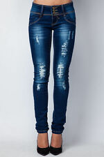 Slim, Skinny Ripped, Frayed Jeans Plus Size for Women