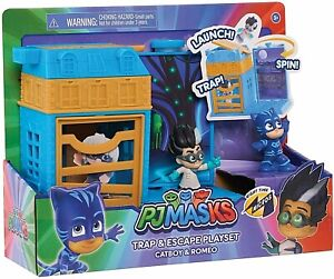 PJ Masks Micros Trap & Escape Playset, Catboy & Romeo Figures New Kids Toy 3+
