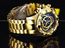 Invicta Reserve 52mm Excursion Touring Swiss Chrono 18K Gold IP Black Dial Watch