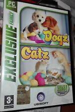"GIOCO PC ""DOGZ CATS"" EXCLUSIVE FAMILY UBISOFT 2 DVD-ROM ORIGINALE 2006 ITALIANO"