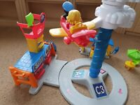 FISHER.PRICE Little People Spinning SONGS Sounds PHASES working Airport