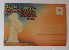 SOUVENIR FOLDER YELLOWSTONE NATIONAL - VINTAGE FOLD-OUT POSTCARD