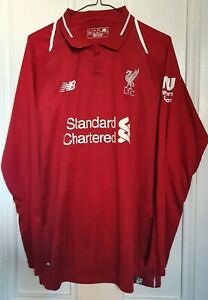 LIVERPOOL LONG SLEEVED HOME SHIRT 2018/19 USED SIZE LARGE