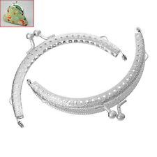 1PC Metal Frame Kiss Clasp Arch For Purse Bag Silver Tone 10.6cm x 6.7cm