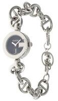 GUCCI Black Dial S-Steel Women's Bracelet Watch YA107503-WTL