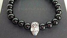 NORTHSKULL LONDON black onyx men's bracelet NEW