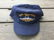USS ARIZONA BB39 PEARL HARBOR HAWAII HAT-CAP