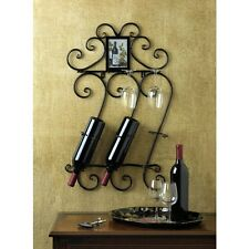 Wine and Glass Holder Rack Wall Mounted - New
