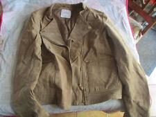 veste femme en daim beige, Mango, taille M, comme neuve