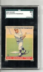 1933 Goudey Lafayette Thompson #13 Graded SGC 60 EX 5