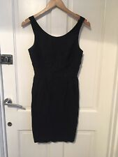 02213b8beb x Asos Linen black pencil evening party cocktail Dress size 10