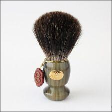 Omega Green and Gold Pure Badger Shaving Brush - #6223 100% pure badger hair