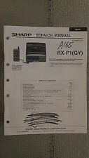 Sharp rx-p1 service manual original repair book stereo tape player DAT 102 pages