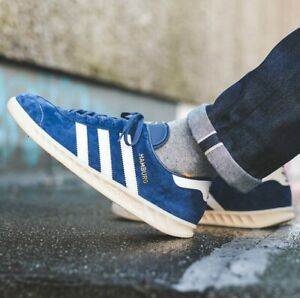adidas Hamburg Blue Sneakers for Men for Sale   Authenticity ...