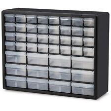 44 Drawer Plastic Bin Small Parts Hardware Crafts Storage Cabinet Organizer NEW
