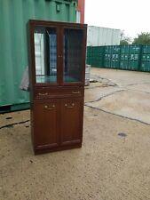 Drinks Cabinet,Wood Grain Effect,Glass display Storage Unit/Kitchen Dressser.