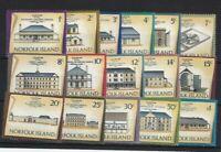NI97) Norfolk Island 1973 Buildings I, II, III, IV MUH