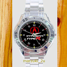 NEW RARE Acura Integra Type R CUSTOM CASUAL CHROME MEN'S WATCH WRISTWATCHES