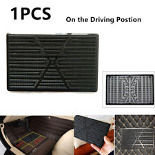 1PCS Black Car Floor Mat Carpet Scuff Guard Foot Rest Pedal Plate Pad 25 x 16 CM