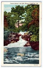 1953 Lovers Retreat, 4th Falls, Winona Five Falls, Pa Postcard