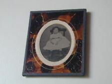 """AMBROTYPE """"fillette sur sa chaise"""" daté du 18 juillet 1869 photo photographie"""
