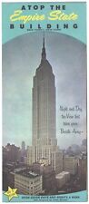 Vintage c.1967 ATOP THE EMPIRE STATE BUILDING Fold-Out Brochure Map Rand McNally