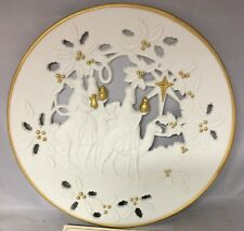 Lenox Collections The Three Kings 24K Gold Pierced-Porcelain Collector Plate