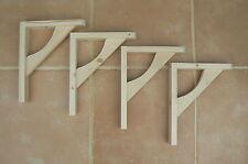 """Wooden Shelf Brackets x 4 (Ideal for 8"""" - 10"""" Shelves)"""