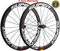 50mm Clincher Road Bike Carbon Wheels Racing Bicycle Cycle Wheelset 700C 3K Matt