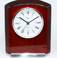 "High Quality Mahogany Office Desk New Clock 6"" Circa Brand Engravable Plate NWT"