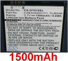 Batterie 1500mAh type CAB1500007C1 CAB32A0001C1 Pour Alcatel One Touch 918 Mix