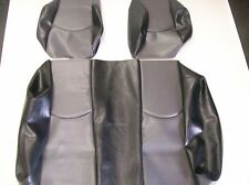 EZ-GO TXT Golf Cart Deluxe™ Seat Covers-Staple(Black/Gry)-Pic is of Club Car DS