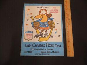 1972 Little Caesars Pizza All-Star Calendar,HOWE,KALINE,FREEHAN,BUTKUS,LUCCI W@W