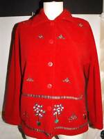 Ugly Christmas Sweater Party Fleece Classic Elements Size Petite XS EUC Holiday