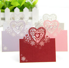 Lot New Love Heart Laser Cut Wedding Party Table Name Place Cards Favor Decor