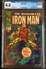 The Invincible Iron Man #1 CGC 4.0 Cream to Off-White Pages