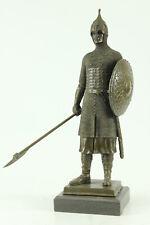 Bronze Sculpture Great Detailed Knight Warrior Hand Made Masterpiece Decorative