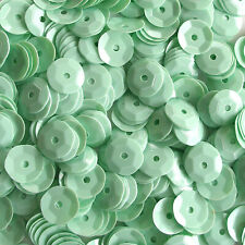 Sequins Cream Mint Green 8mm Round Cup ~400 or ~4,750 pieces Loose HQ