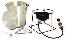 New 29 Quart Outdoor Turkey Fryer Propane King Kooker Stand Burner Cooker