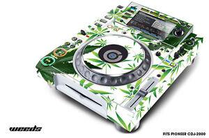 Skin Decal Sticker Wrap for Pioneer CDJ 2000 Turntable DJ Mixer Pro Audio WEED W