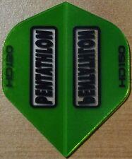 Ensembles de 5 vert PENTATHLON HD 150 microns ailerons fléchettes