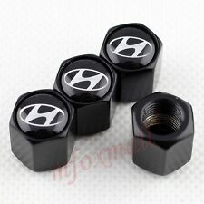 Black Car Wheel Tire Tyre Valve Cap Air Cover For Hyundai ix35 i20 i30 Accessory