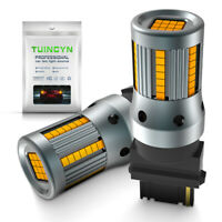 2 x Ampoule 66 LED T25 P27/7W 3156 3157 Orange Feux De Jour Clignotants W27/7W