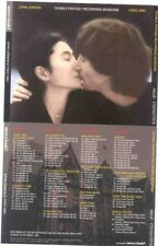 JOHN LENNON/YOKO ONO Double Fantasy Sessions 4 CD