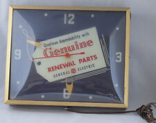 "Original General Electric Lighted Clock Advertising Sign Rare Nice Old 16"" Wow"