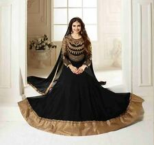 Indian Stylish Designer Bollywood Party Black Anarkali Salwar Suit Kameez Dress